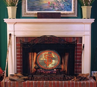 San Francisco Giants Fireplace Screen