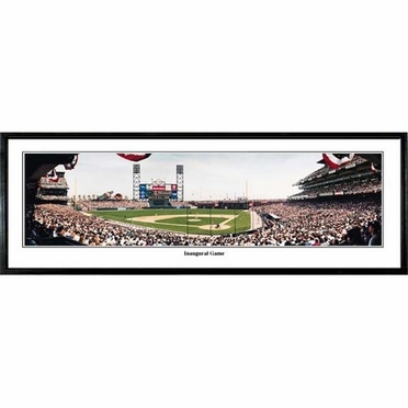 San Francisco Giants Inaugural Game Framed Panoramic Print