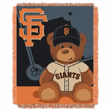 San Francisco Giants Jacquard BABY Throw Blanket
