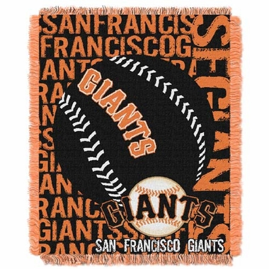 San Francisco Giants Jacquard Woven Throw Blanket