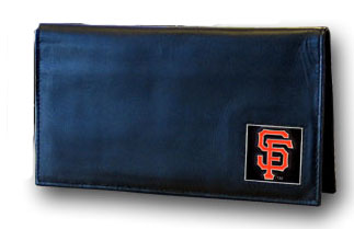 San Francisco Giants Leather Checkbook Cover (F)