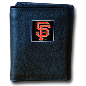 San Francisco Giants Leather Trifold Wallet (F)