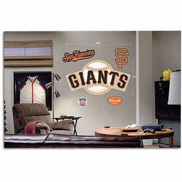 San Francisco Giants Logo Fathead Wall Graphic