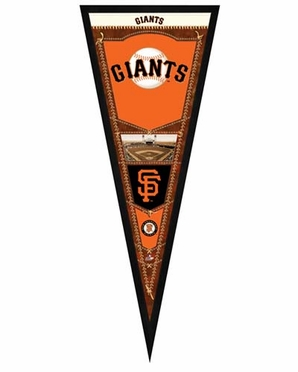 "San Francisco Giants Pennant Frame - 13""x33"" (No Glass)"