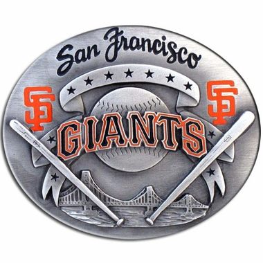 San Francisco Giants Enameled Belt Buckle
