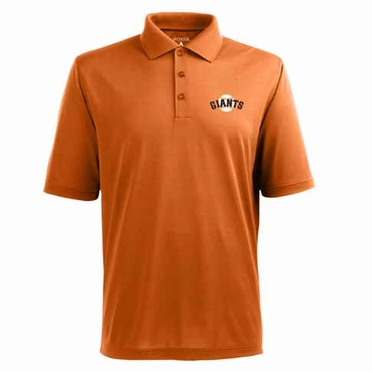 San Francisco Giants Mens Pique Xtra Lite Polo Shirt (Alternate Color: Orange)