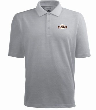 San Francisco Giants Mens Pique Xtra Lite Polo Shirt (Color: Gray)
