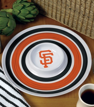San Francisco Giants Plastic Chip and Dip Plate