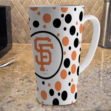 San Francisco Giants Polkadot 16 oz. Ceramic Latte Mug