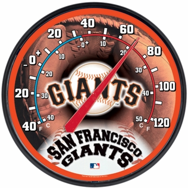 San Francisco Giants Round Wall Thermometer