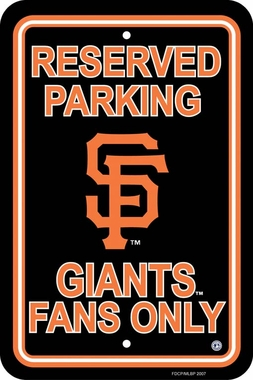 San Francisco Giants Plastic Parking Sign (P)