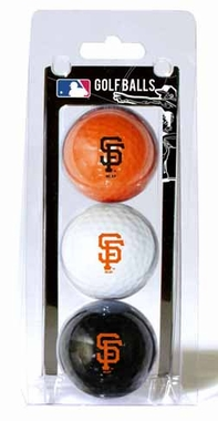 San Francisco Giants Set of 3 Multicolor Golf Balls