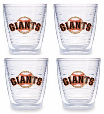 San Francisco Giants Set of FOUR 12 oz. Tervis Tumblers