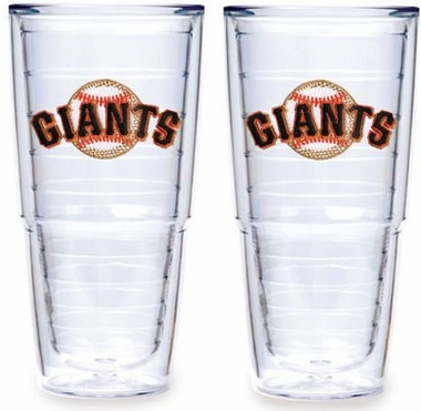 "San Francisco Giants Set of TWO 24 oz. ""Big T"" Tervis Tumblers"