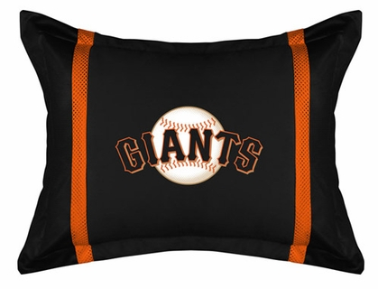 San Francisco Giants SIDELINES Jersey Material Pillow Sham