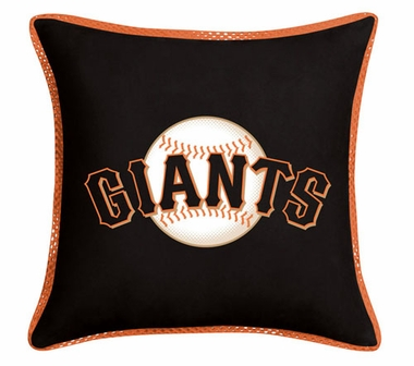 San Francisco Giants SIDELINES Jersey Material Toss Pillow