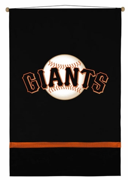 San Francisco Giants SIDELINES Jersey Material Wallhanging