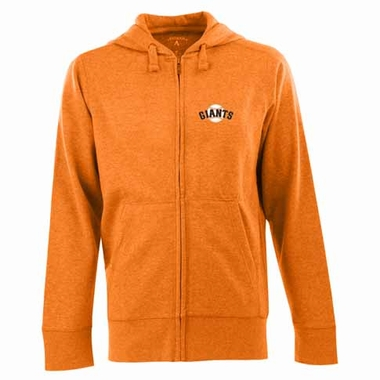 San Francisco Giants Mens Signature Full Zip Hooded Sweatshirt (Alternate Color: Orange)