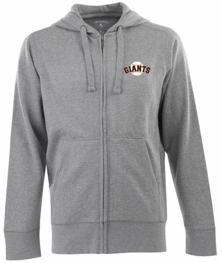 San Francisco Giants Mens Signature Full Zip Hooded Sweatshirt (Color: Gray)