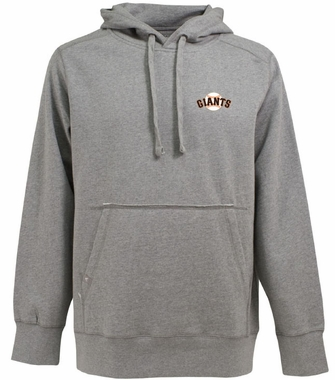 San Francisco Giants Mens Signature Hooded Sweatshirt (Color: Gray)