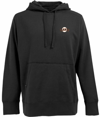 San Francisco Giants Mens Signature Hooded Sweatshirt (Team Color: Black)