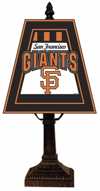 San Francisco Giants Small Art Glass Lamp