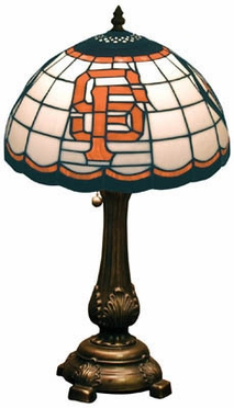 San Francisco Giants Stained Glass Table Lamp