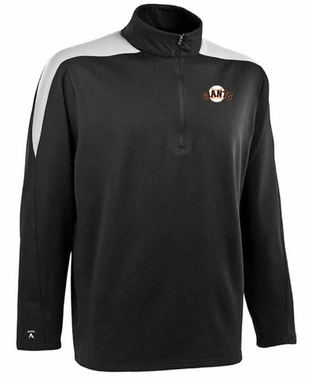 San Francisco Giants Mens Succeed 1/4 Zip Performance Pullover (Team Color: Black)