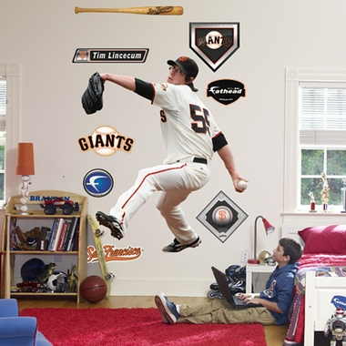 San Francisco Giants Tim Lincecum Fathead Wall Graphic