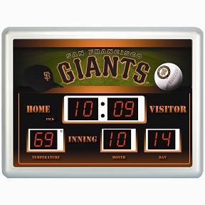 San Francisco Giants Time / Date / Temp. Scoreboard