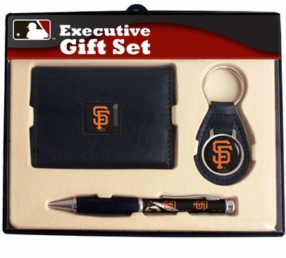 San Francisco Giants Trifold Wallet Key Fob and Pen Gift Set