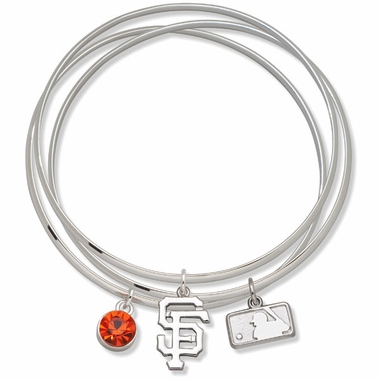 San Francisco Giants Triple Bangle Bracelet
