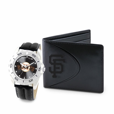 San Francisco Giants Watch and Wallet Gift Set