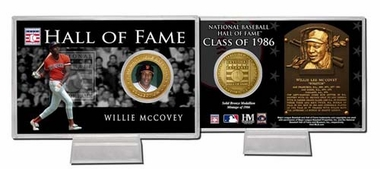 San Francisco Giants Willie McCovey Hall of Fame Coin Card