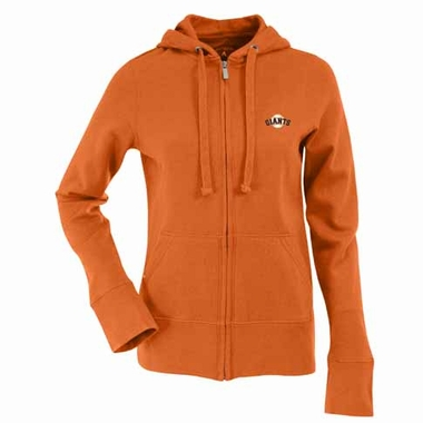 San Francisco Giants Womens Zip Front Hoody Sweatshirt (Alternate Color: Orange)