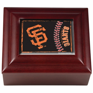 San Francisco Giants Wooden Keepsake Box