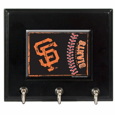San Francisco Giants Wooden Keyhook Rack