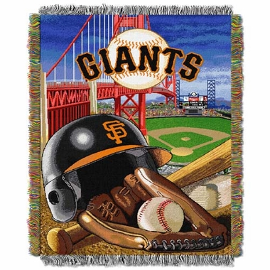 San Francisco Giants Woven Tapestry Blanket
