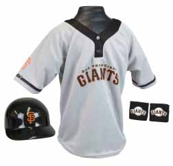San Francisco Giants YOUTH Helmet and Jersey Set