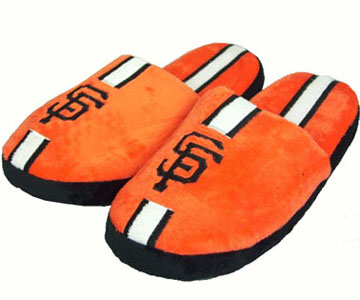 San Francisco Giants YOUTH Team Stripe Slide Slippers - Medium