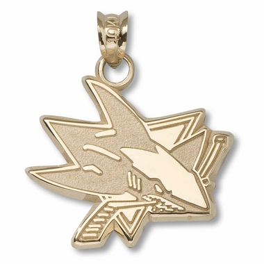 San Jose Sharks 14K Gold Pendant