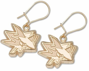 San Jose Sharks 14K Gold Post or Dangle Earrings