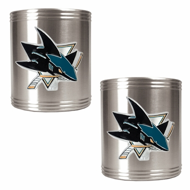 San Jose Sharks 2 Can Holder Set