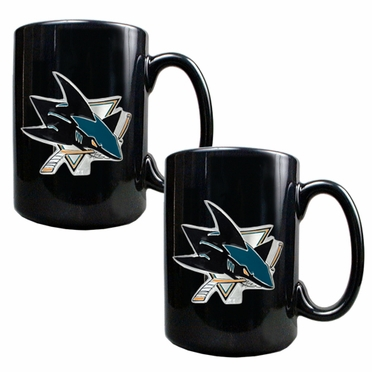 San Jose Sharks 2 Piece Coffee Mug Set