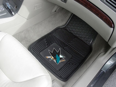 San Jose Sharks 2 Piece Heavy Duty Vinyl Car Mats