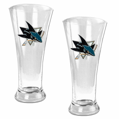 San Jose Sharks 2 Piece Pilsner Glass Set
