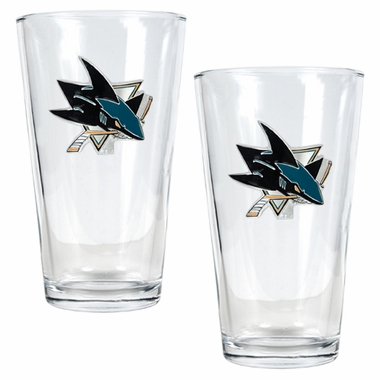 San Jose Sharks 2 Piece Pint Glass Set
