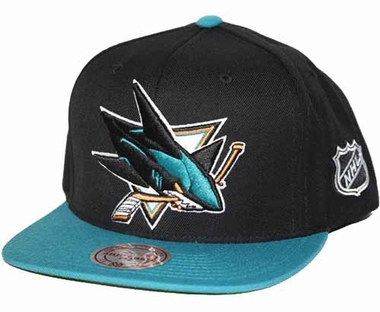 San Jose Sharks 2-Tone Vintage Snap back Hat