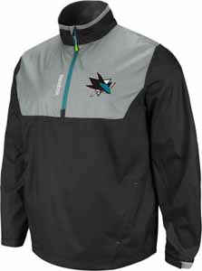 San Jose Sharks 2012 1/4 Zip Performance Hot Jacket - Small