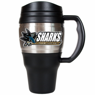 San Jose Sharks 20oz Oversized Travel Mug